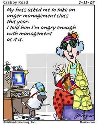 Anger Management Cartoon I Have No Idea What They Are Talking About on older people driving cartoon