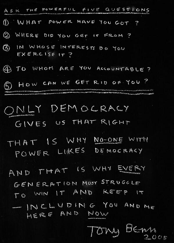 tonybenn lessons from history